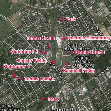 Spring Creek Oaks Map