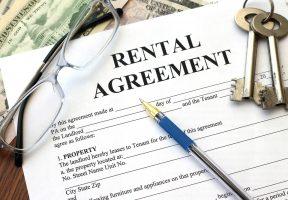 rental agreement, close-up